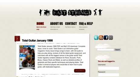 Visit Faststrings com - FastStrings - Music lessons download