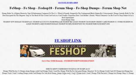 Visit Fedumpshop net - Fe-Shop | YOUR OFFICIAL SELLER OF DUMP'S