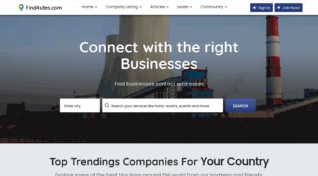 Visit Find4sites com - Indian B2B directory, B2C delhi