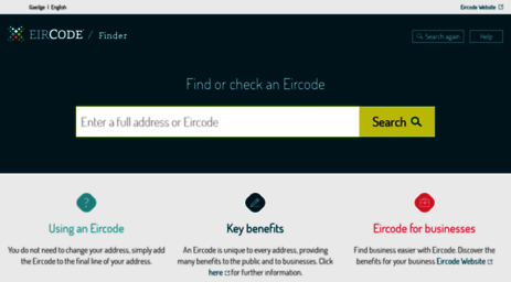 Visit Finder Eircode Ie Find Or Check An Eircode