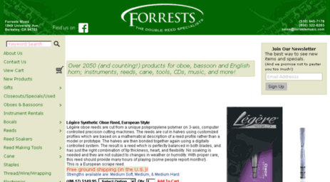 Visit Forrestsmusic com - Double Reed Specialist: Oboe Reeds
