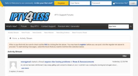 Visit Forum iptv4less com - Activity Stream - IPTV Support Forum