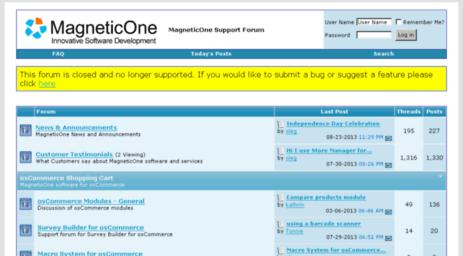 Visit Forum magneticone com - MagneticOne Support Forum