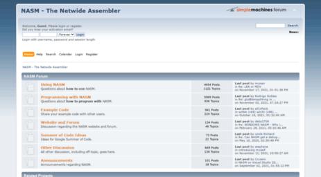 Visit Forum nasm us - NASM - The Netwide Assembler - Index