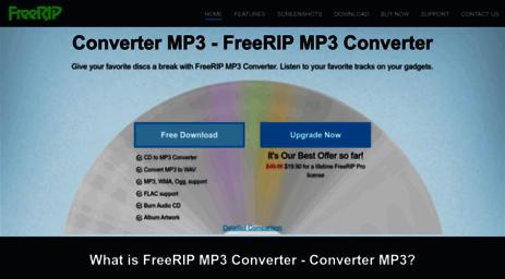 Visit Freerip com - FreeRIP: CD to MP3 Converter, Audio