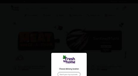 Visit Freshtohome com - FreshToHome Home - Buy Fresh Fish