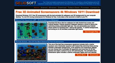 Visit Geliosoft com - Windows Screensaver - Free 3D