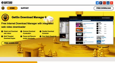 Visit Getgosoft com - Internet Download Manager - GetGo