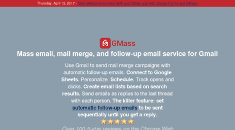 Visit Gmss3 com - GMass - Gmail mail merge, mass email, and