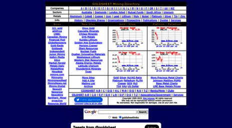 Visit Goldsheetlinks com - GOLDSHEET Mining Directory