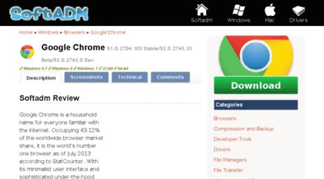 Visit Google-chrome softadm com - Download Google Chrome - Free