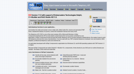 Visit Hbtapi com - HbTapi Components - TAPI Components for