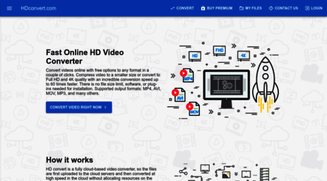 Visit Hdconvert com - Online video converter to MP4  Convert