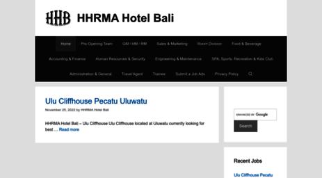 Visit Hhrmahotelbali Com Hhrma Hotel Bali Job Career 2020 Lowongan Kerja Hotel Di Bali Terbaru