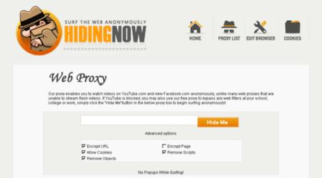 Visit Hidingnow us - Proxii Net - Free Anonymous Web Proxy