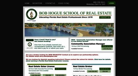 Visit Hogue-school com - Bob Hogue School of Real Estate