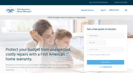 Visit Home Warranty Firstam Com First American Home Buyers