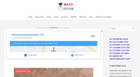 Visit Ieltsfever com - Ielts Fever Free practice Tests for students