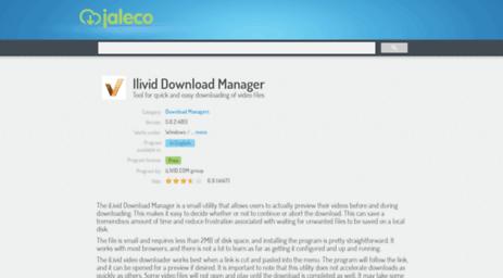 Visit Ilivid-download-manager jaleco com - Ilivid Download