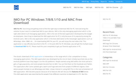 Visit Imopcapp com - IMO For PC Windows 7/8/8 1/10 and MAC