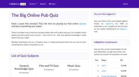 Visit Inquizitive co uk - InQuizitive   Free pub quiz