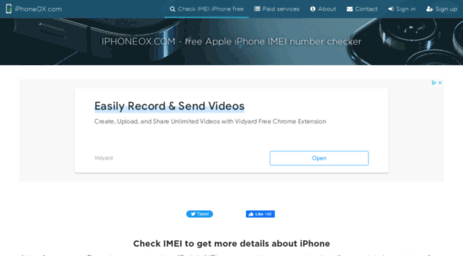 Visit Iphoneox com - IPhone IMEI checker online FREE