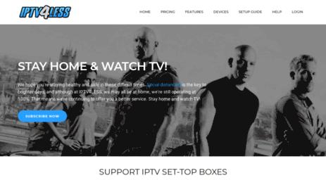Visit Iptv4less com - IPTV Private Server - MAG250, MAG254