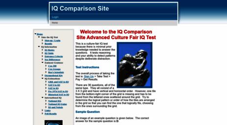 Visit Iqcomparisonsite com - IQ Comparison Site Advanced Culture