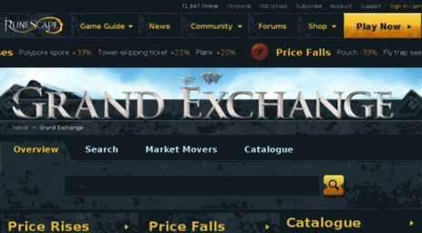 Visit Itemdb-rs runescape com - RuneScape - Grand Exchange