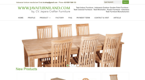Visit Javafurniland com - Solid Teak Wood Indonesian Bali