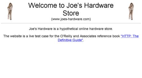 Visit Joes-hardware com - Welcome To Joe's Hardware Store