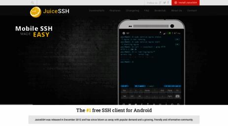 Visit Juicessh com - JuiceSSH - Free SSH client for Android