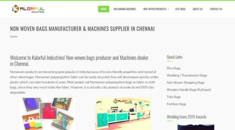 Visit Kalorful com - Kalorful Industries - Non Woven Bags