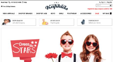 d4a44d3198f75 Visit Kapkids.in - Kids Wear Online Shopping India - Buy Kids shoes ...