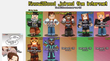Visit Know2good com - Default 3D || Minecraft Resource Packs