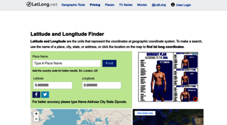 Visit Latlong net - Latitude and Longitude Finder on Map Get