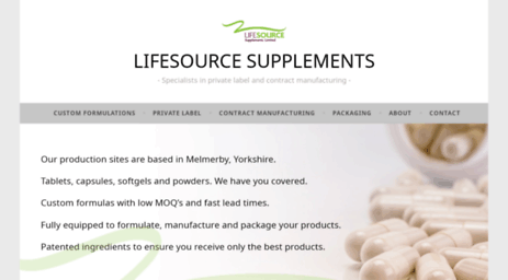 Visit Lifesourcesupplements co uk - LIFESOURCE SUPPLEMENTS