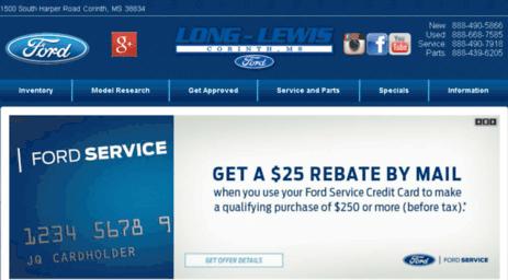 Ford Dealerships In Mississippi >> Visit Longlewiscorinth Dealerconnection Com Long Lewis