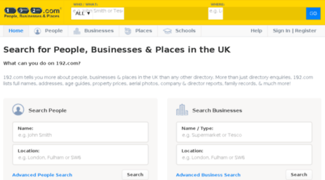 Uk directory search