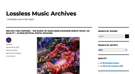 Visit Losslessma net - Lossless Music Archives | Best