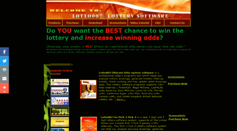 Visit Lotto-007 com - Lottery Software - Lotto007 Ultimate 2019