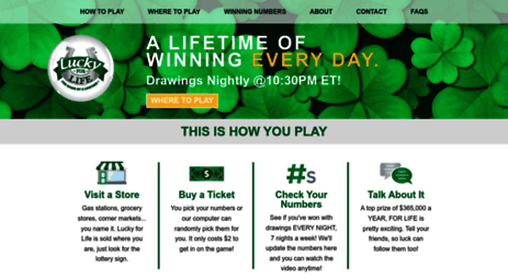 Visit Luckyforlife us - Lucky for Life | THE GAME OF A LIFETIME