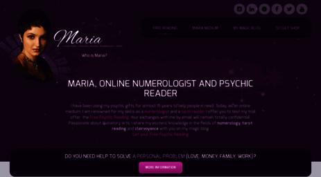 Visit Maria-fortune-teller com - Psychic reading & Tarot