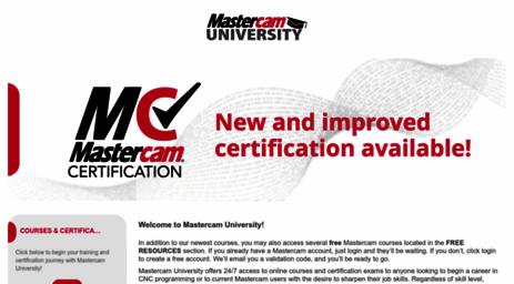 Visit Mastercamu com - Mastercam University