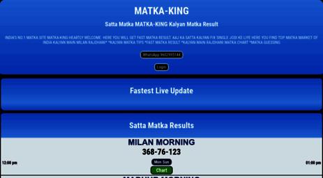 Visit Matka-king net - Matka King DISAWAR GALI King Satta Matka