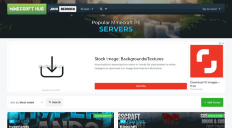 Visit Mcpestats com - Minecraft PE Servers | Minecraft Hub