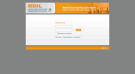 Visit Mdil sfda gov sa - MDIL - Login
