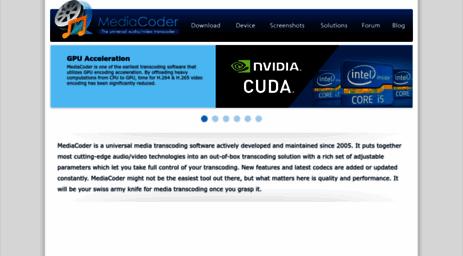 Visit Mediacoderhq com - MediaCoder - more than a universal