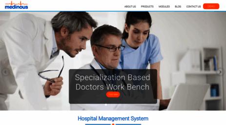 Visit Medinous com - Hospital Management System, HMS