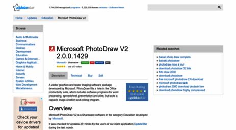 Visit Microsoft-photodraw-v2 updatestar com - Microsoft